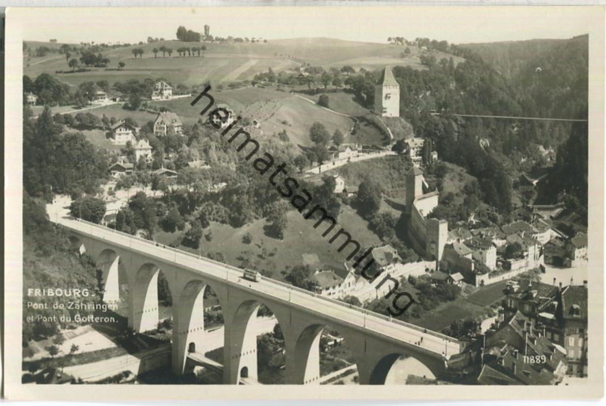 Fribourg - Pont de Zähringen et Pont du Gotteron - Foto-Ansichtskarte - Edition Perrochet-Matile Lausanne