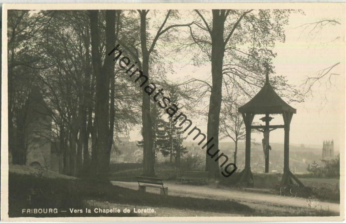 Fribourg - Vers la Chapelle de Lorette - Foto-Ansichtskarte - Edition Simon Glasson Bulle