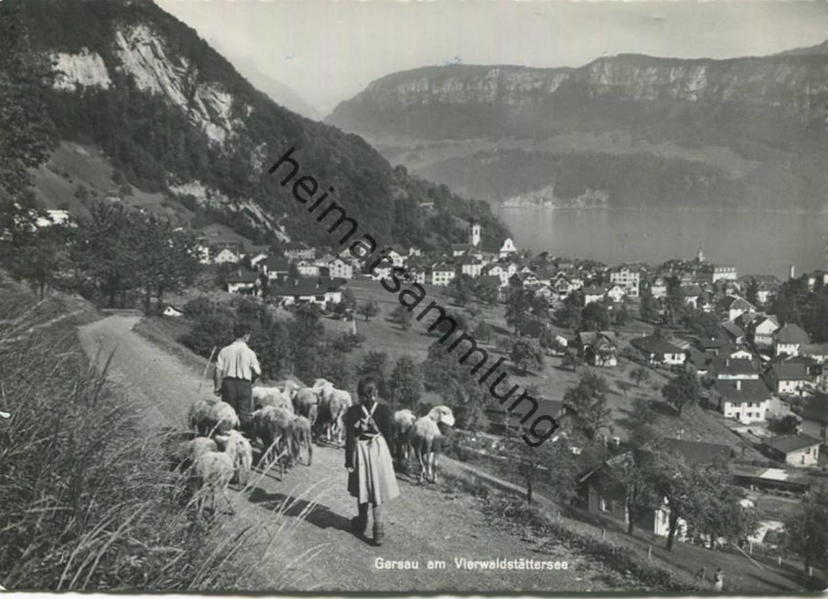 Gersau - Foto-AK Grossformat - Verlag Photoglob Zürich gel. 1960