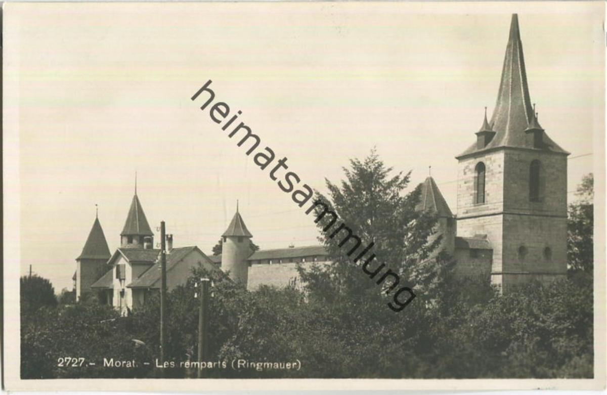 Morat - Les remparts - Ringmauer - Foto-Ansichtskarte - Edition Societe Graphique Neuchatel