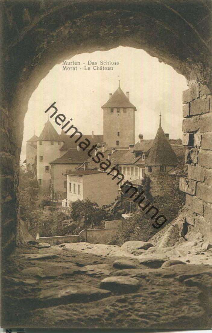 Murten - Das Schloss - Photoverlag F. Zaugg Biel