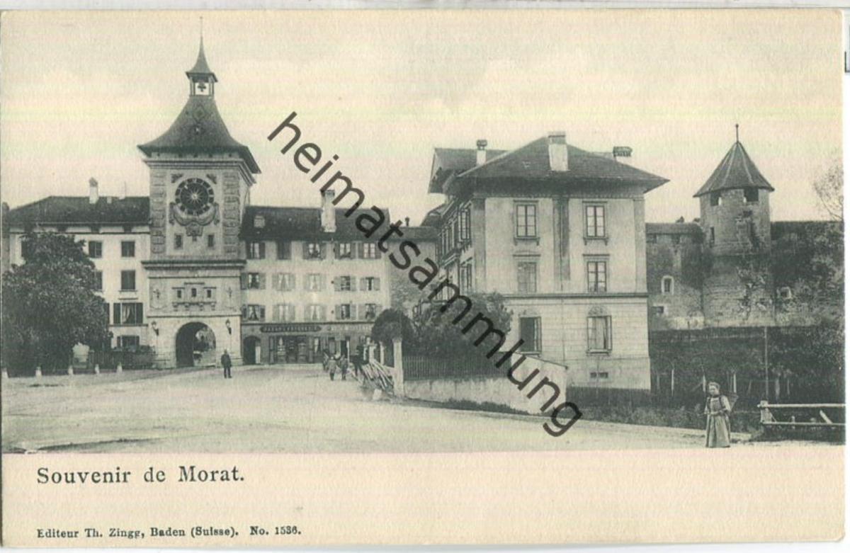 Souvenir de Morat - Editeur Th. Zingg Baden ca. 1900