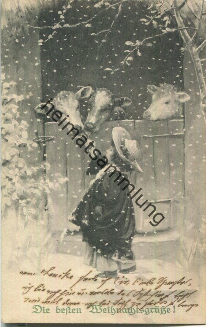 Die besten Weihnachtsgrüsse - Künstlerkarte M. Munk - Verlag M. M. Vienne
