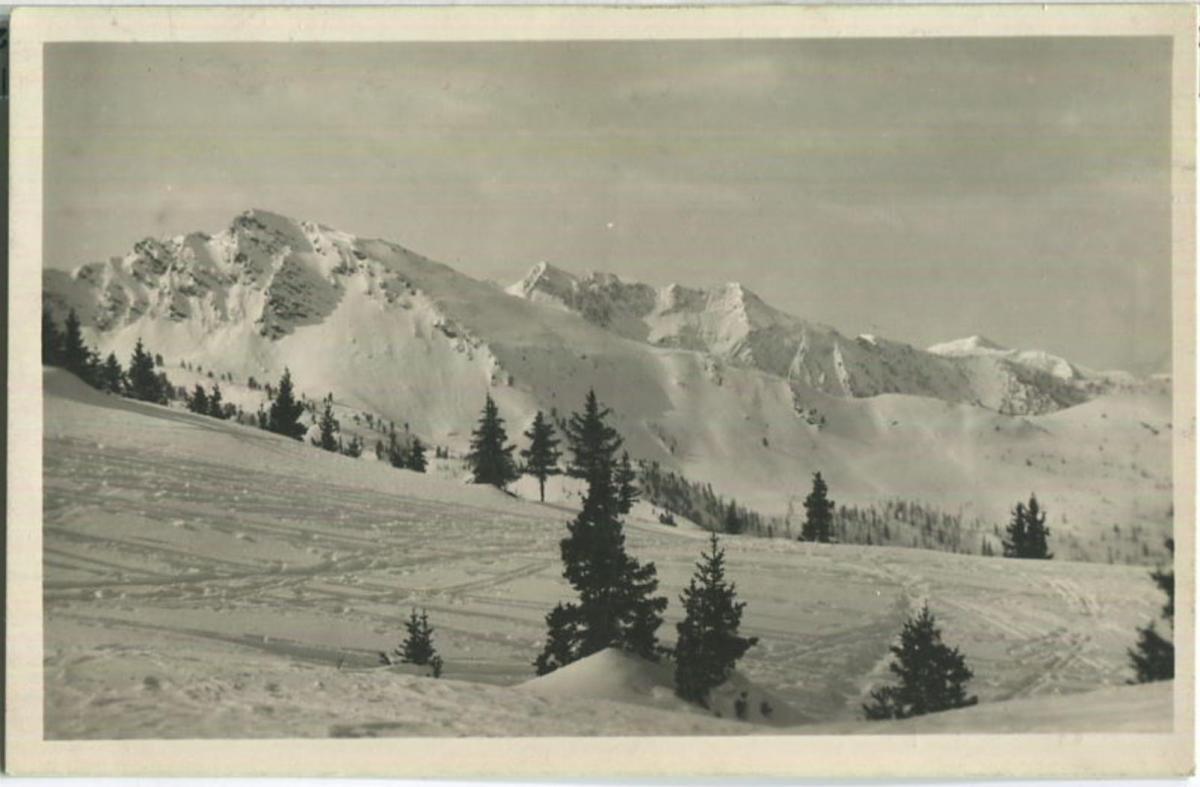 Krahbergzinken von der Krummholzhütte - Foto-Ansichtskarte - Verlag H. Schönfellinger
