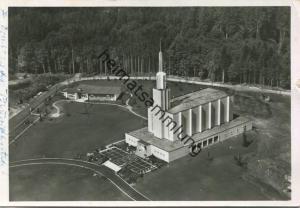 Münchenbuchsee - Schweizer Mormonentempel der Kirche Jesu Christi der Heiligen der letzten Tage - Luftaufnahme - Foto-AK