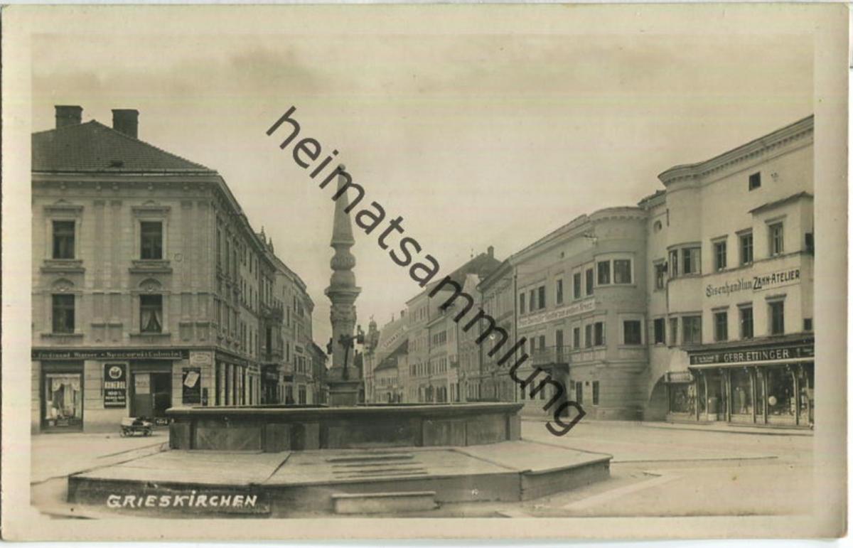 4710 Grieskirchen - Eisenhandlung - Zahn-Atelier - Foto-Ansichtskarte