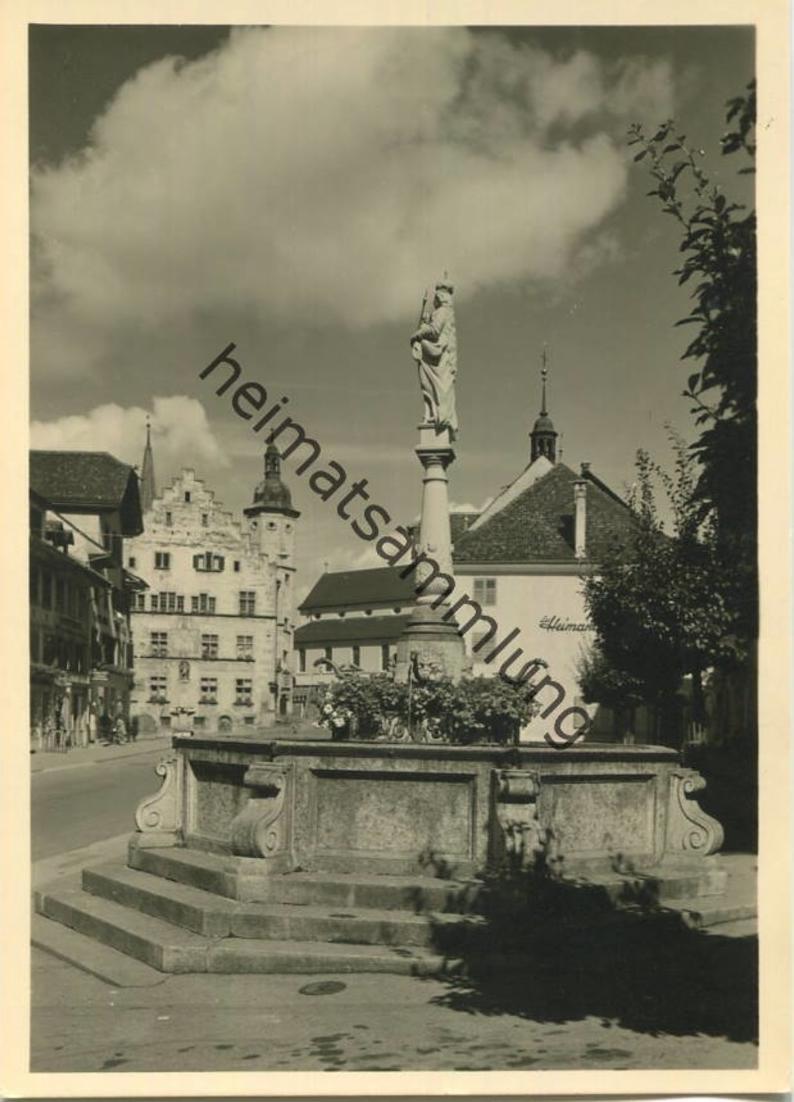 Sursee - Marienbrunnen - Foto-AK Grossformat - Verlag W. und R. Friebel Sursee