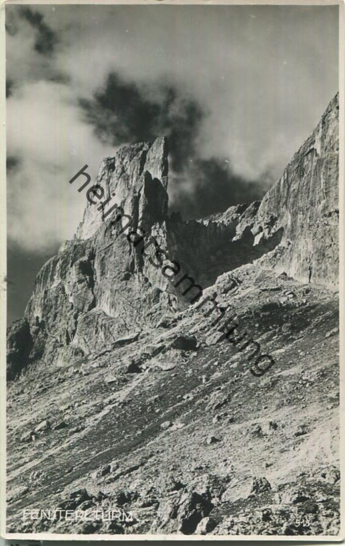Rotwandhütte - Rifugio Roda di Vael - Foto-Ansichtskarte - Verlag S. D. Wassermann Merano
