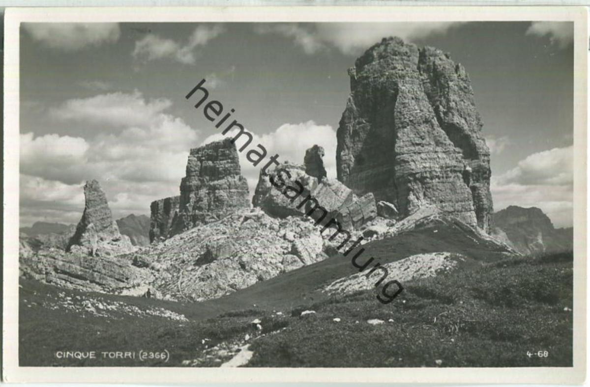 Cinque Torri - Foto-Ansichtskarte - Editore G. Ghedina Cortina d' Ampezzo