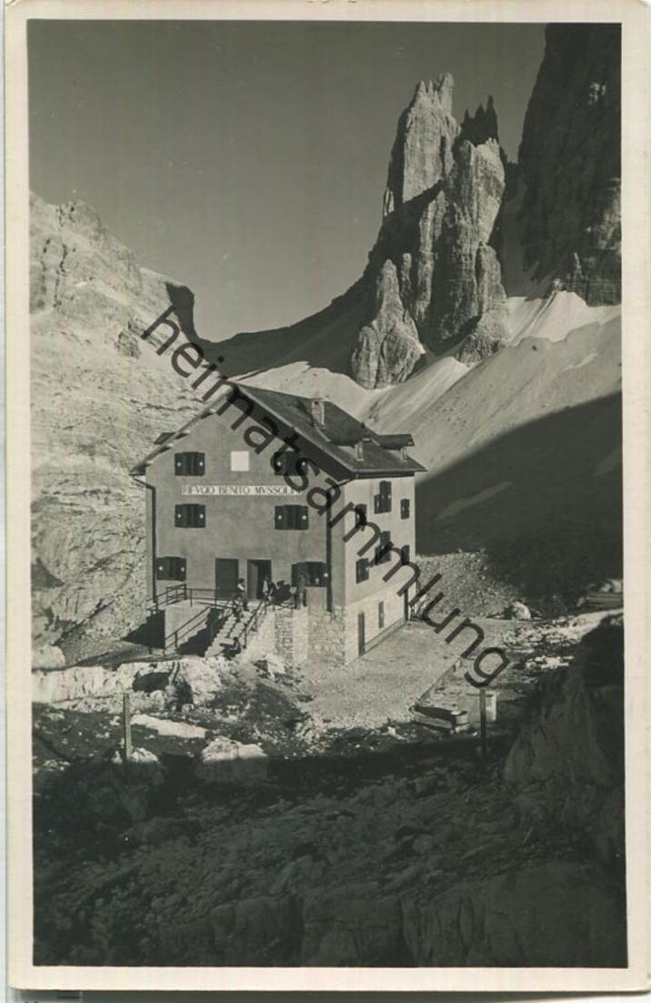 Rifugio Zsigmondy - Rifugio Benito Mussolini - Foto-Ansichtskarte - Verlag Lorenz Fränzl Bolzano