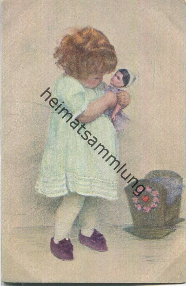 Mädchen mit Puppe - Wiener Kinder - Mütterchen