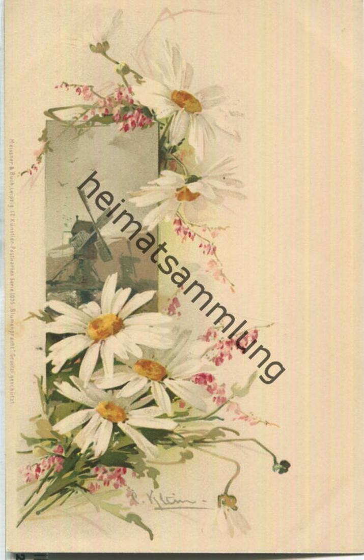 Catharina C. Klein - Windmühle - Verlag Meissner & Buch Leipzig Serie 1095 - Blumenpracht