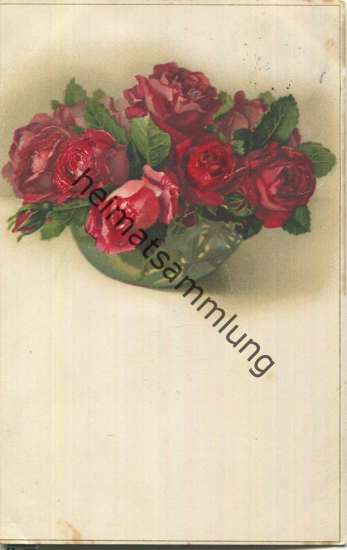 Rosen - Verlag Meissner & Buch Leipzig Serie 2211 - Bahnpost