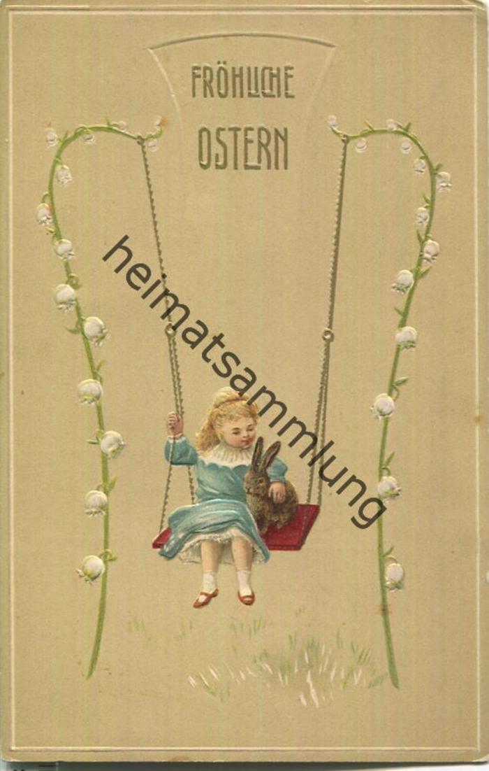 Fröhliche Ostern - Prägedruck - Jugendstil