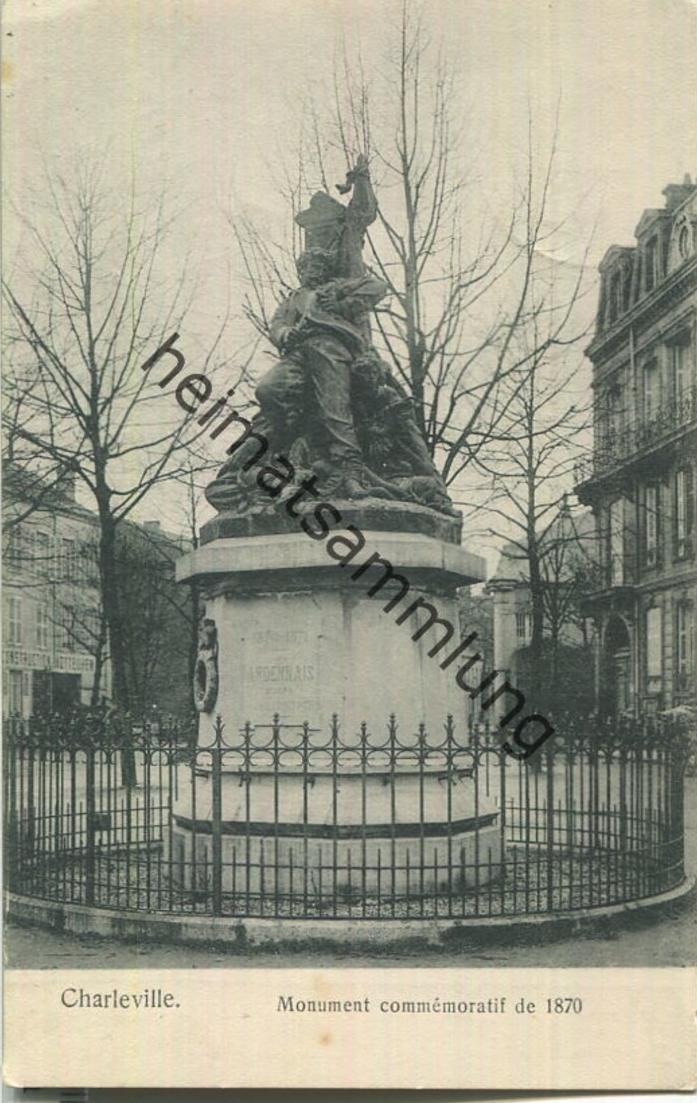 Charleville - Monument commemoratif de 1870 - Verlag Gaspillage Charleville - Feldpost