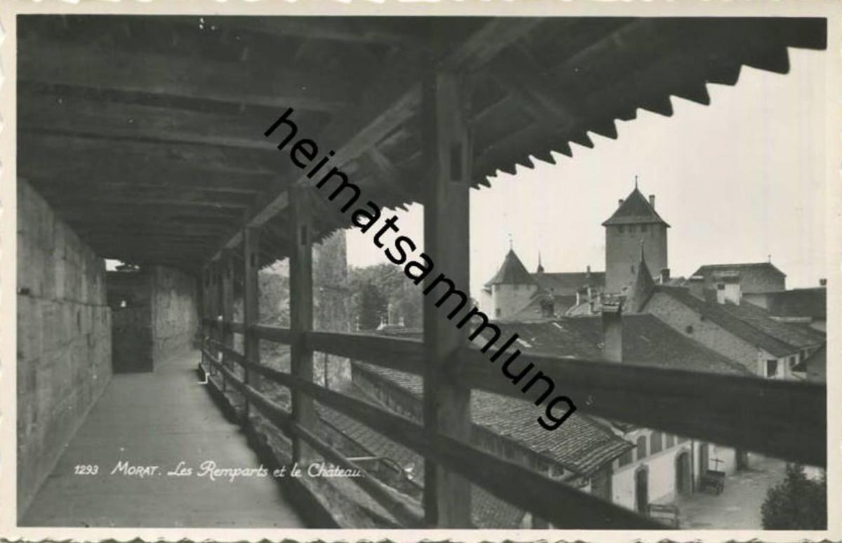 Murten - Morat - les Remparts et le Chateau - Foto-AK - Edition Perrochet Lausanne