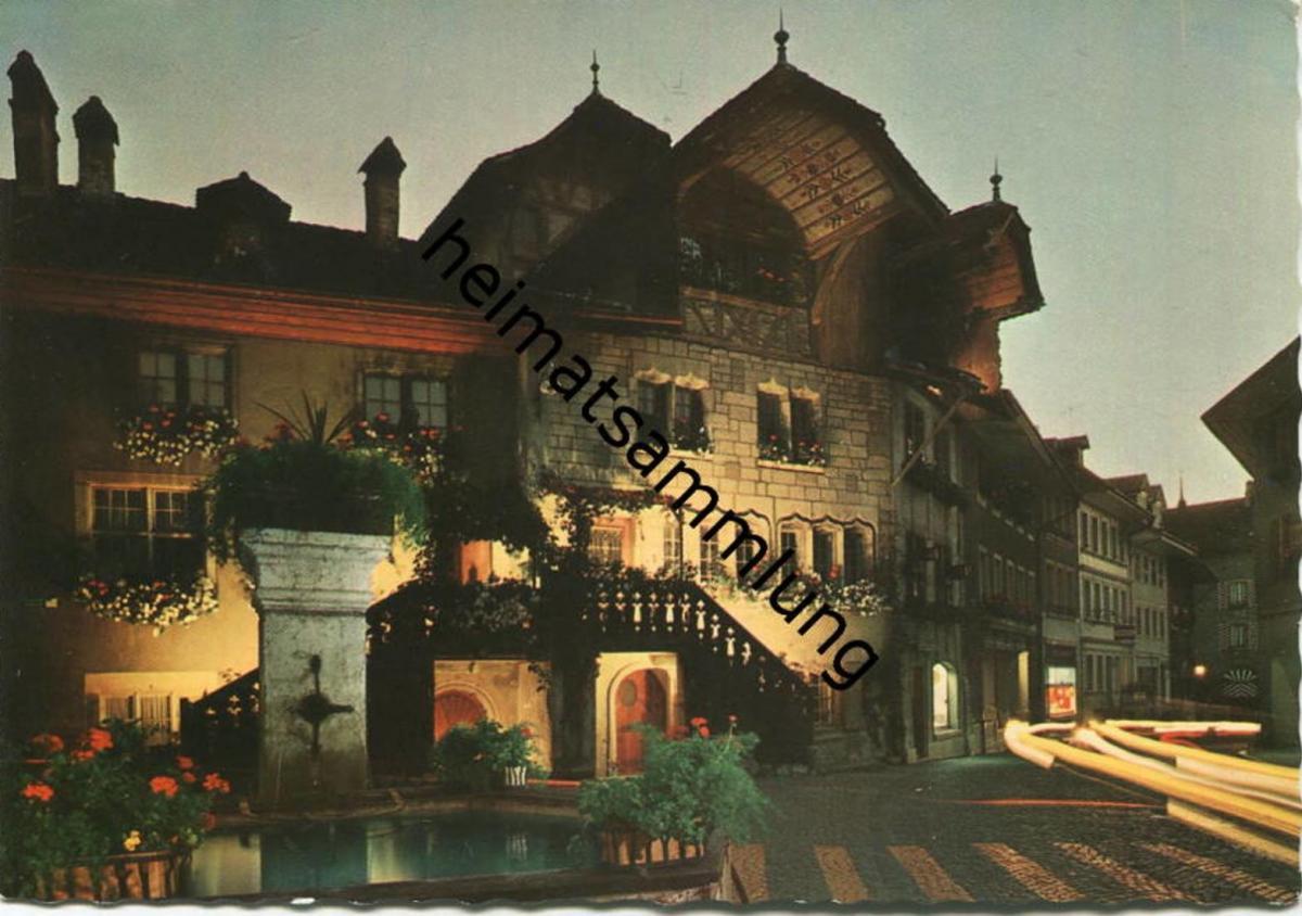 Murten - Rübenloch bei Nacht - AK-Grossformat - Edition Bovey & Cie. Geneve gel. 1961