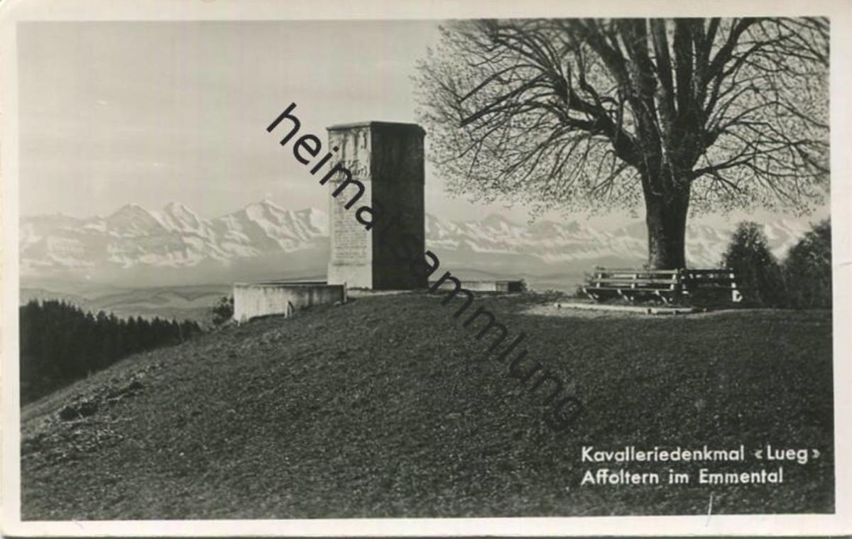 Affoltern - Kavalleriedenkmal Lueg - Foto-AK - Verlag Verkehrsverein Dürrenroth
