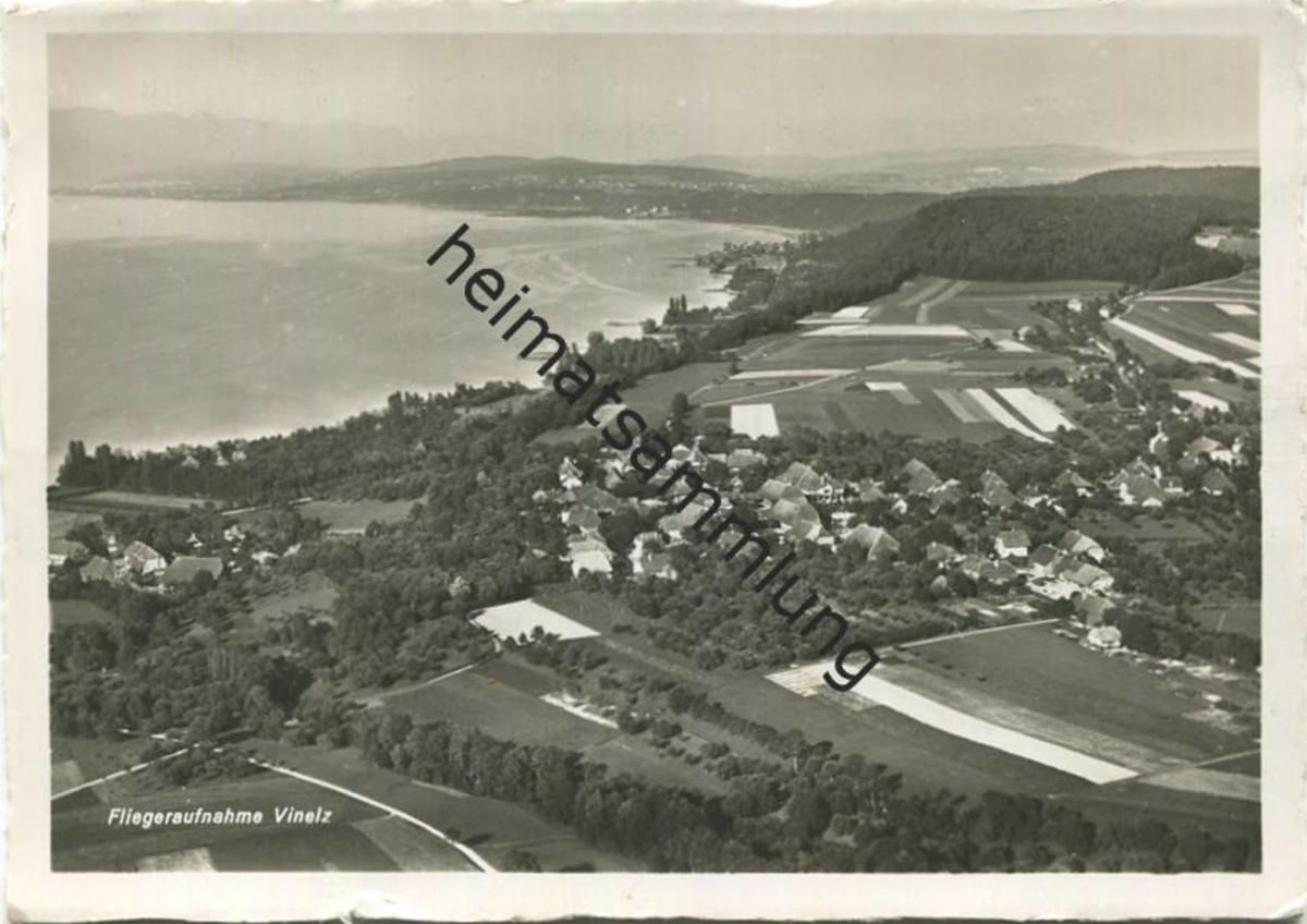 Vinelz - Fliegeraufnahme - Foto-AK Grossformat - Swissair Luftbild - Verlag O. Wyrsch Wabern