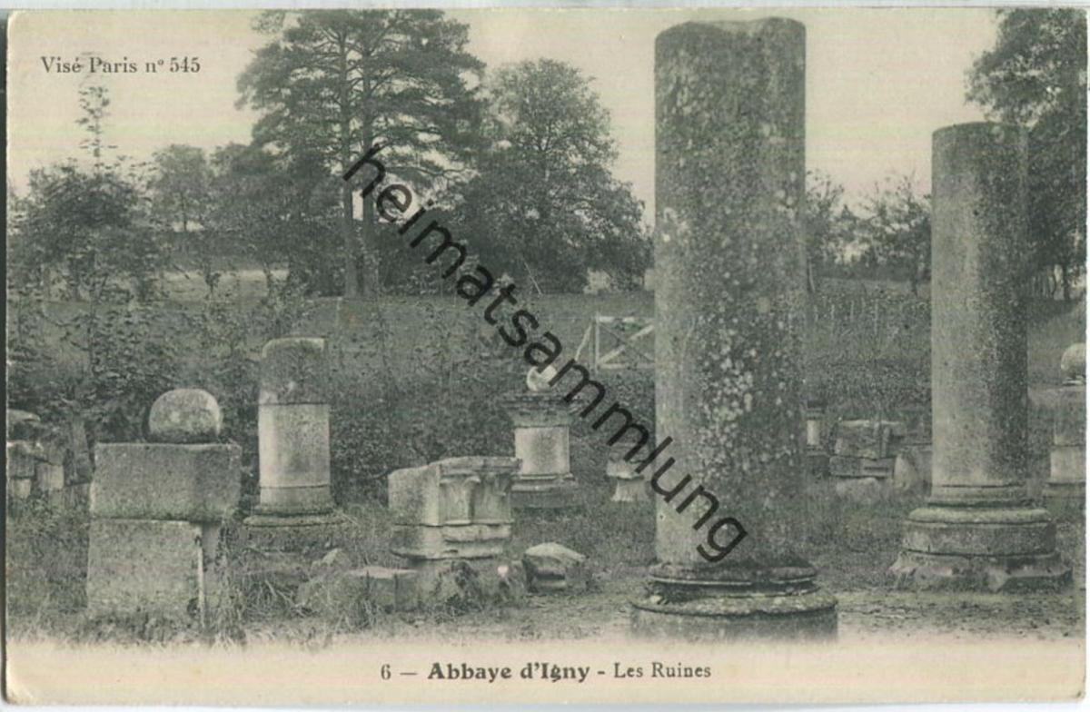 Abbaye d'Igny - Les Ruines - Feldpostkarte