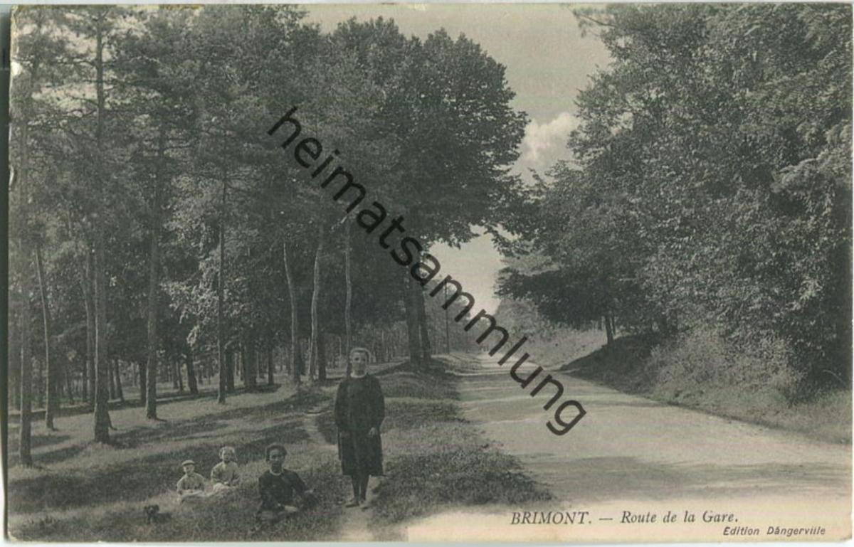 Brimont - Route de la Gare - Feldpostkarte