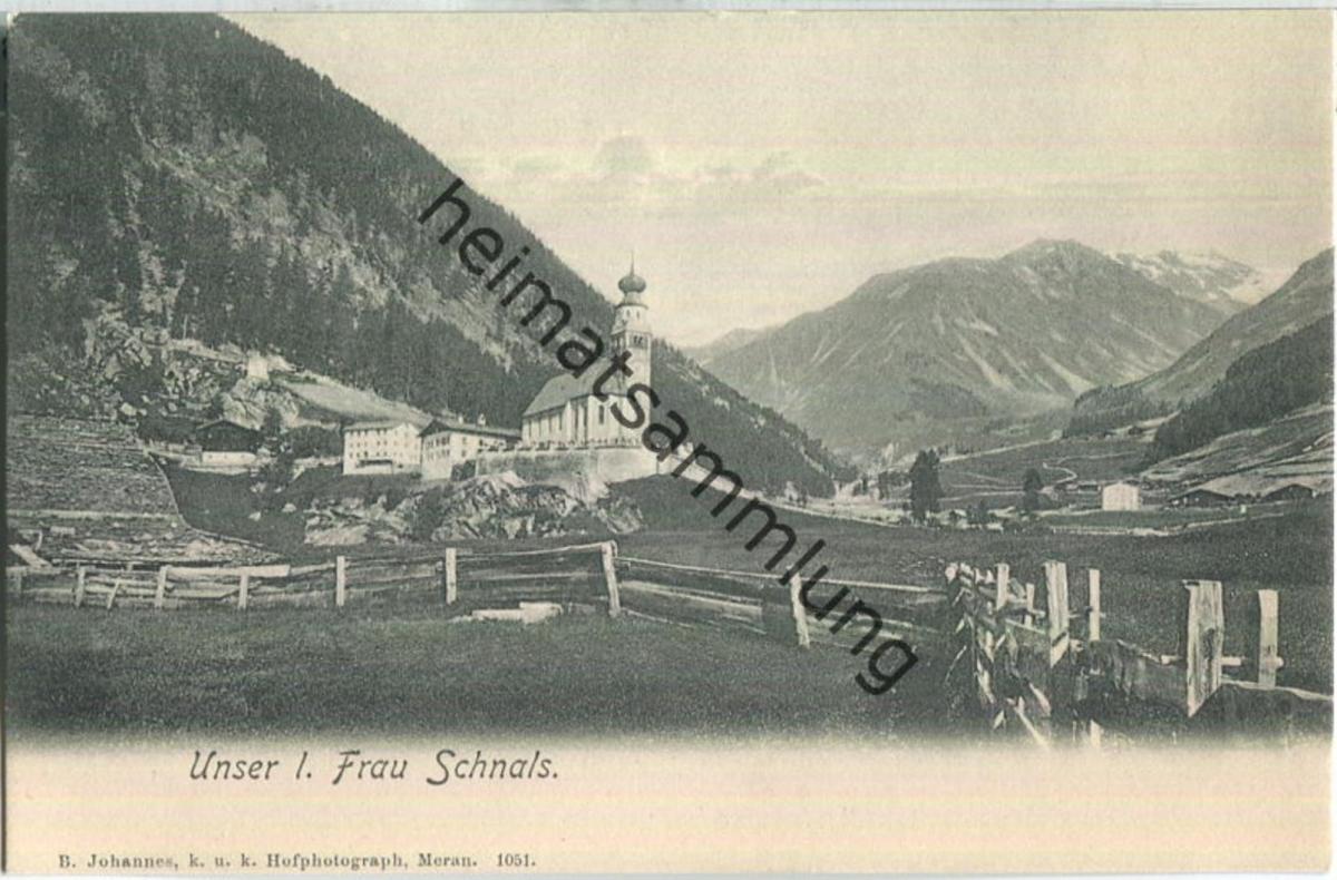 Schnals - Unser Frau - Wallfahrtskirche - Verlag B. Johannes Meran