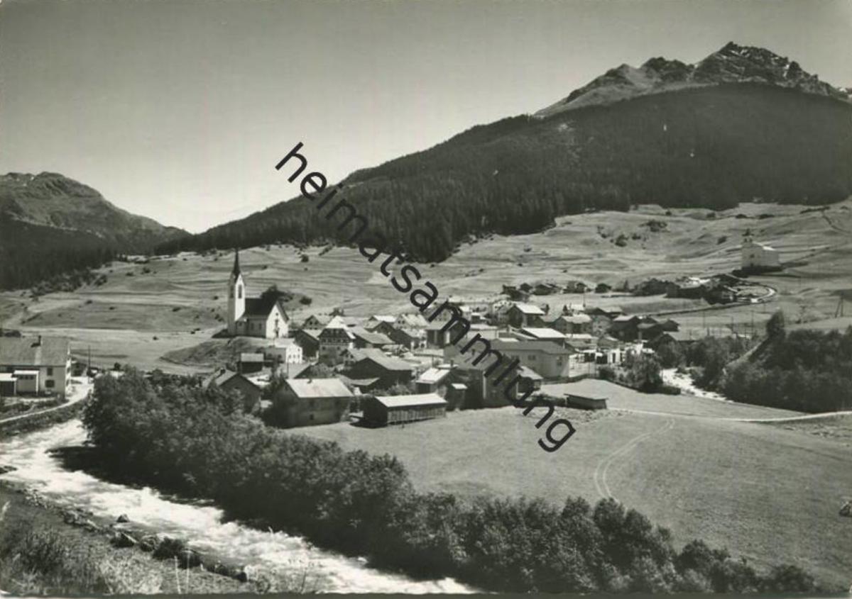 Savognin - Blick zum Piz Tarvisch - Foto-AK Grossformat - Verlag Foto-Gross St. Gallen gel. 1968