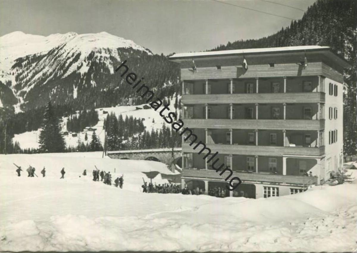 Litzirüti - Badener Ferienheim Valbella - Foto-AK Grossformat - Verlag L. Brüesch Langwies gel. 1964