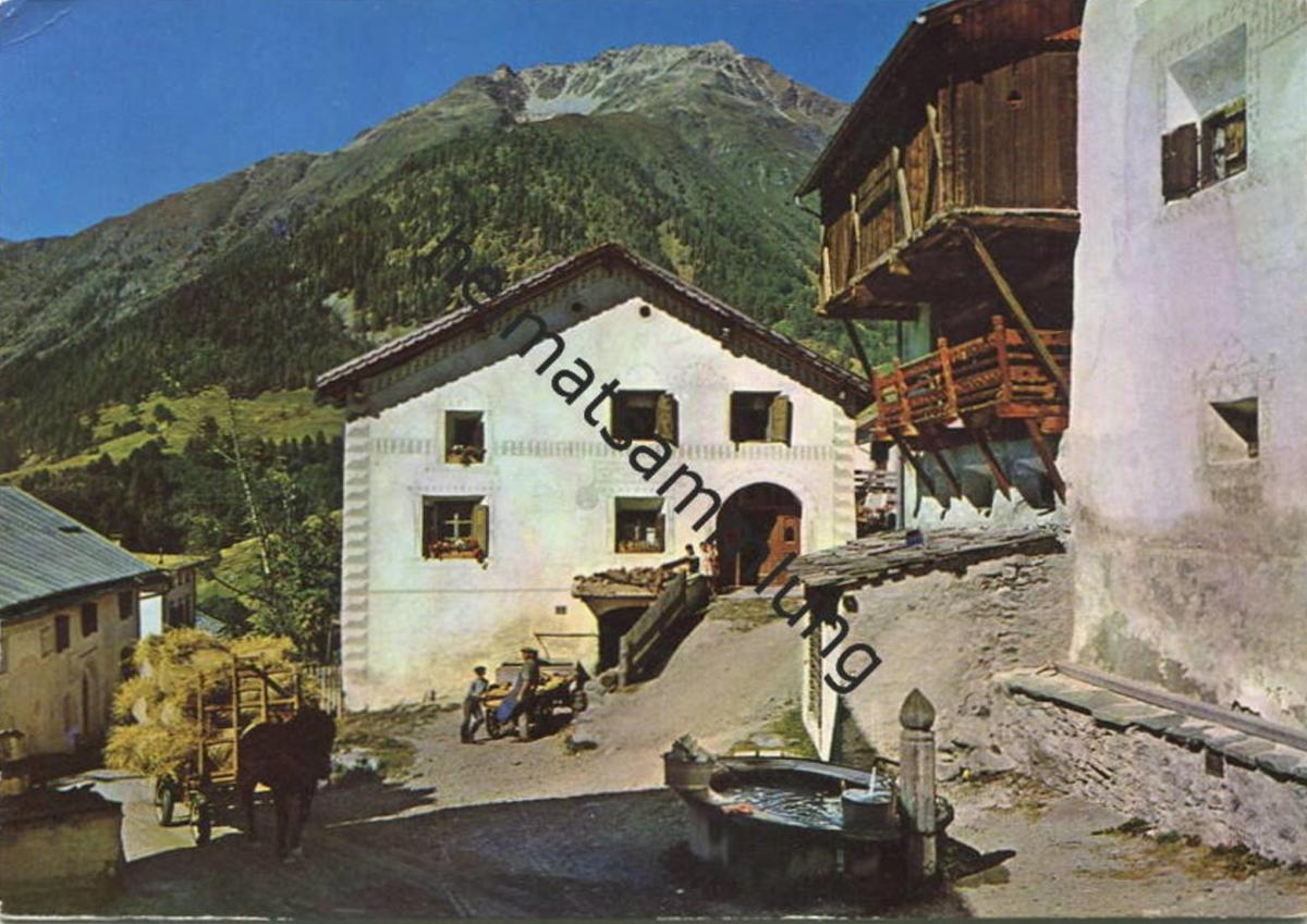 Guarda - Dorfpartie - AK Grossformat - Verlag C. Filli Celerina gel. 1962