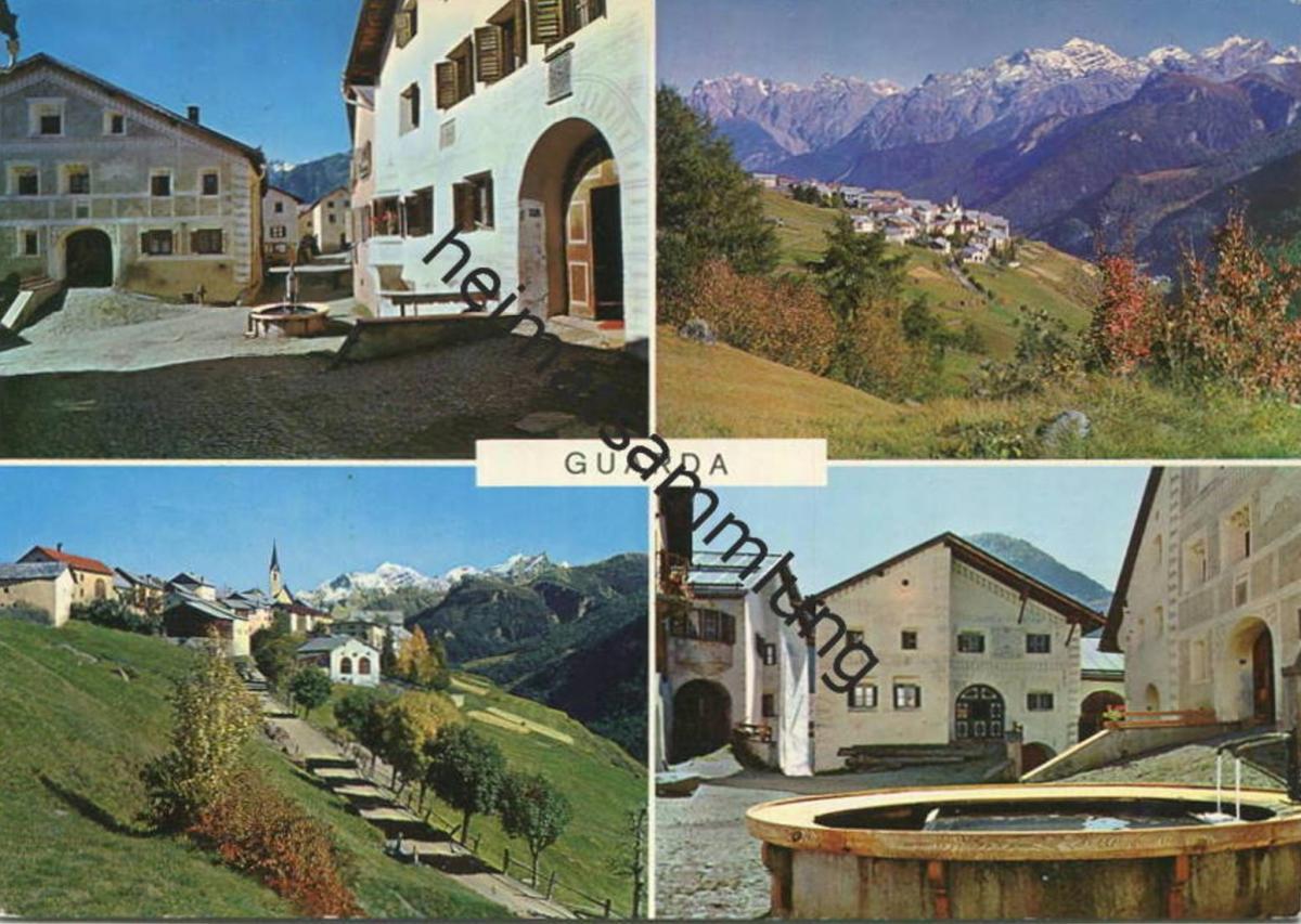 Guarda - AK Grossformat - Verlag Furter Davos-Platz gel. 1967