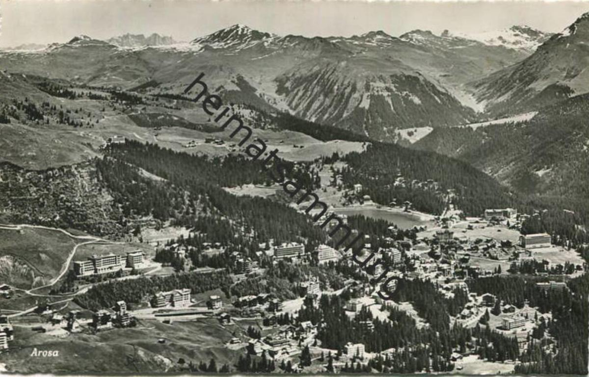 Arosa - Foto-AK - Verlag Photoglob-Wehrli Zürich - gel. 1949