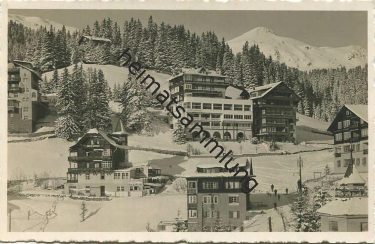 Arosa - Alkoholfreies Restaurant und Hotel Pension Orellihaus - Foto-AK - Verlag C. Brandt Arosa gel. 1934