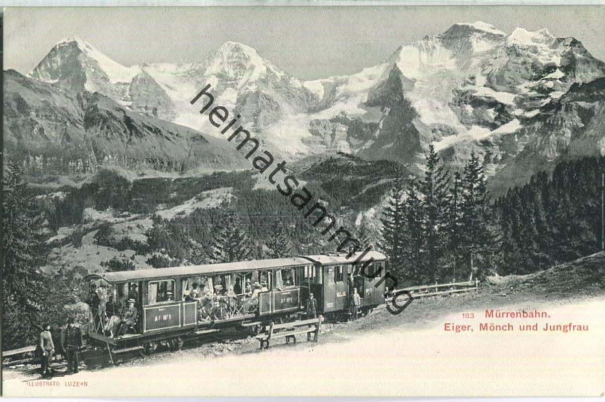 Mürrenbahn - Eiger - Mönch - Jungfrau - Verlag Ilustrato Luzern