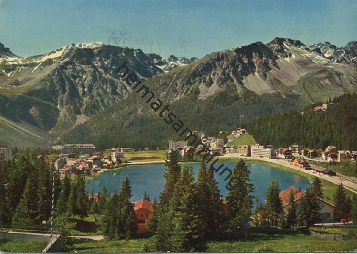 Arosa - Obersee - AK Grossformat - Verlag A. Benker Arosa gel. 1962