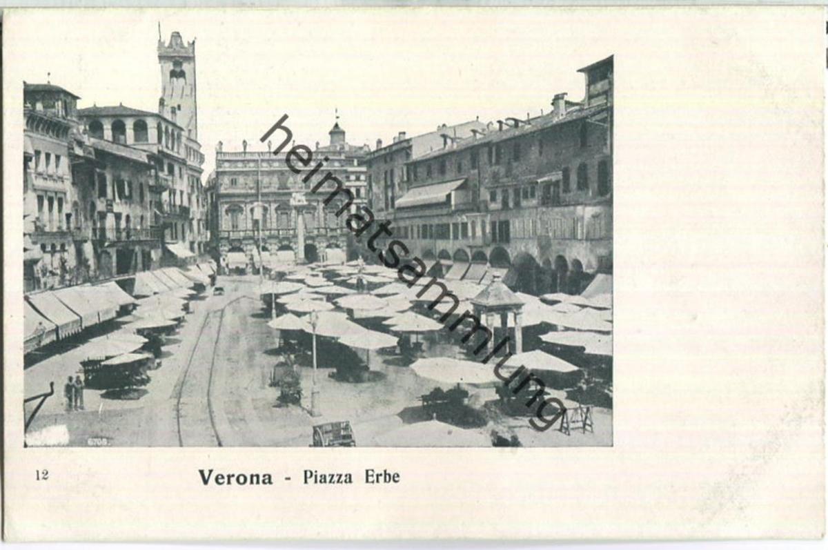 Verona - Piazza Erbe - Verlag Elvetica Milano