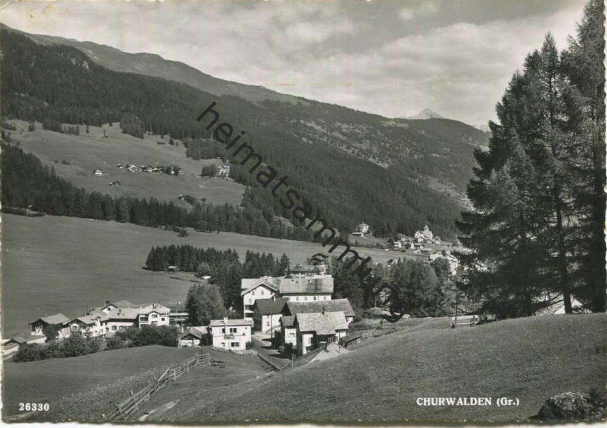 Churwalden - Foto-AK Grossformat - Verlag Foto-Gross St. Gallen - gel. 1951