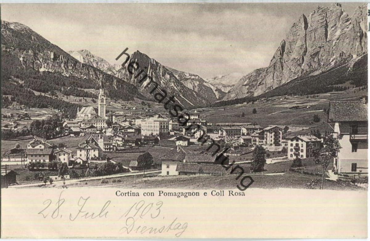 Cortina con Pomagagnon e Coll Rosa
