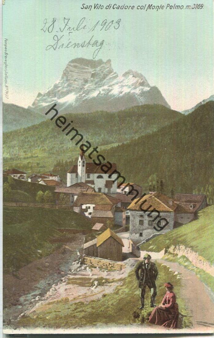 San Vito di Cadore - Col Monte Pelmo - Verlag Pompeo Breveglieri Belluno