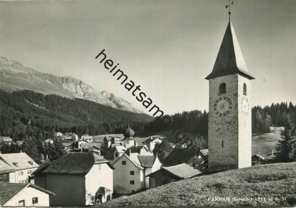 Parpan - Foto-AK Grossformat - Verlag Foto-Gross St. Gallen - gel. 1964