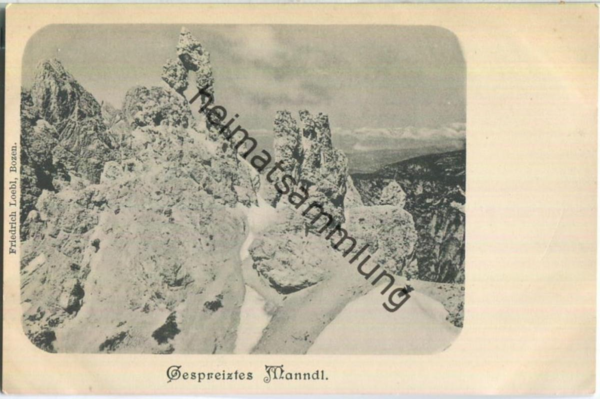 Gespreiztes Manndl - Verlag Friedrich Loebl Bozen (G52735y)*
