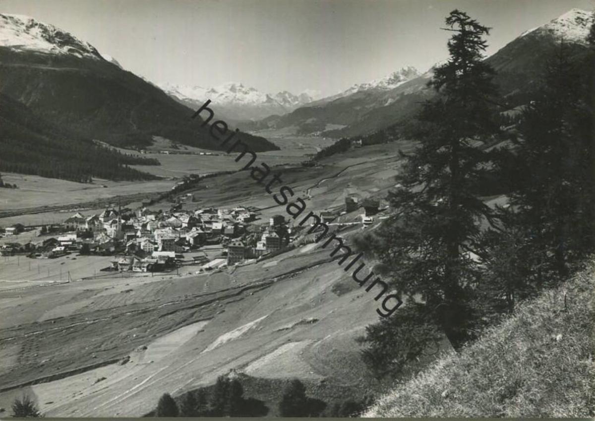 Zuoz - Foto-AK Grossformat - Verlag Engadin Press AG Samedan gel. 1952