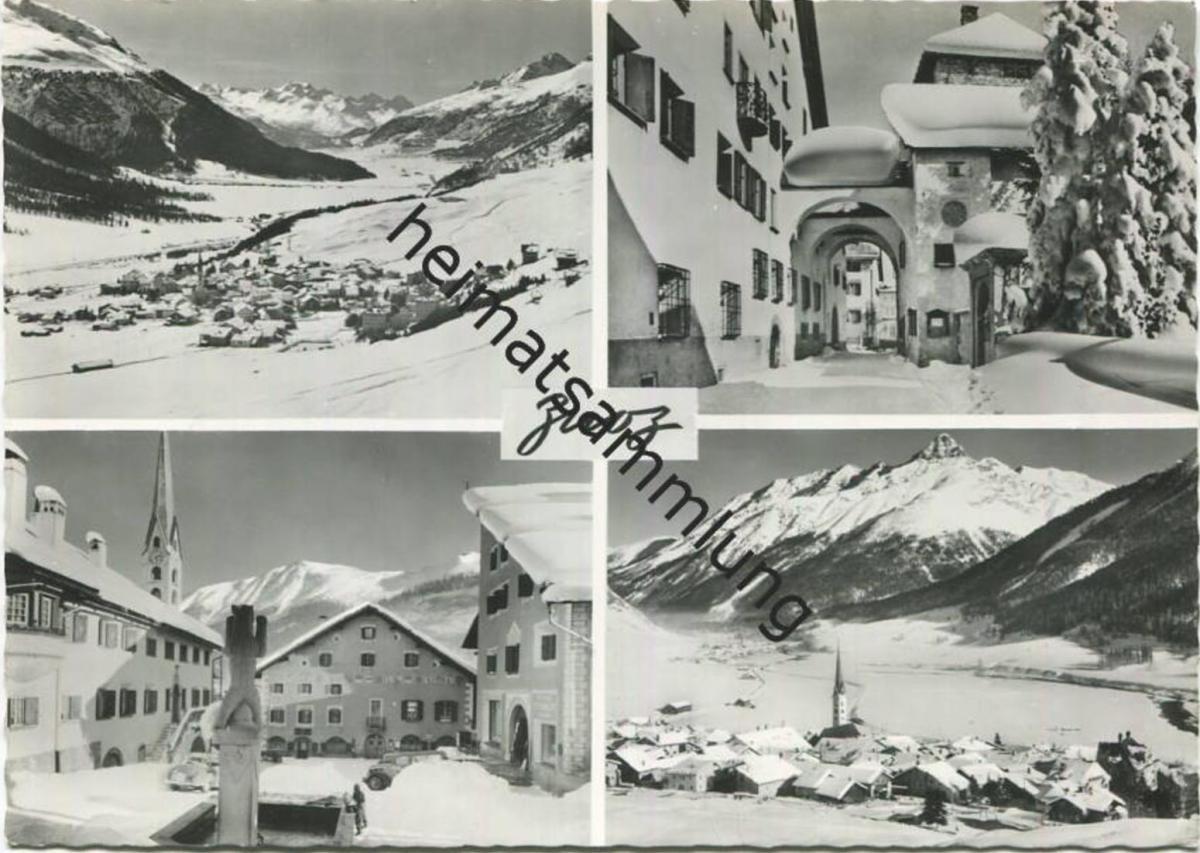 Zuoz - Foto-AK Grossformat - Verlag Otto Furter Davos-Platz gel. 1966