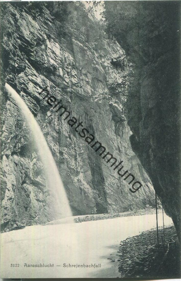 Aareschlucht - Schrejenbachfall - Verlag Gebr. Wehrli Zürich
