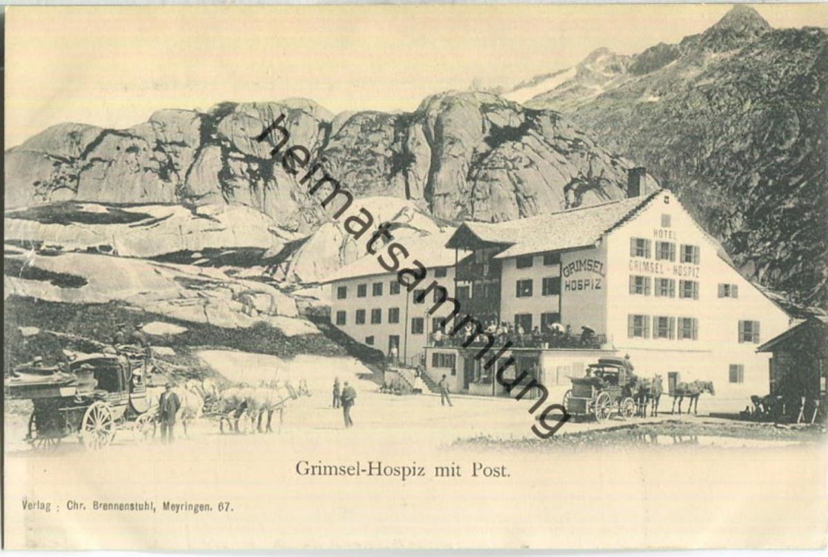 Grimsel-Hospiz - Post - Verlag Chr. Brennenstuhl Meyringen