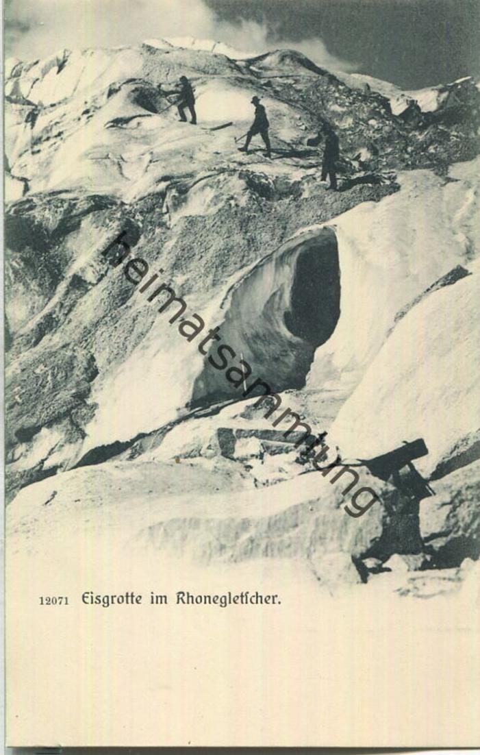 Rhonegletscher - Eisgrotte - Verlag Wehrli AG Zürich