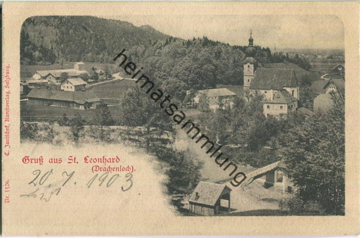 St. Leonhard (Drachenloch) - Verlag C. Jurischek Salzburg