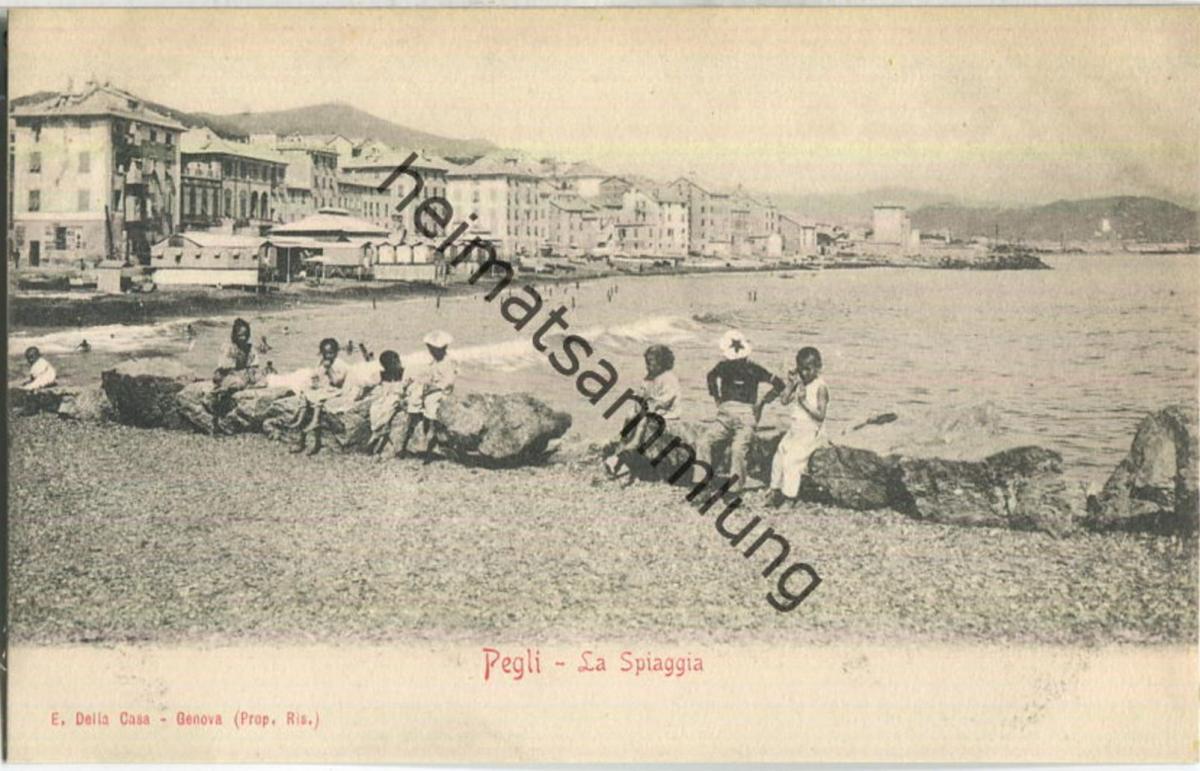 Genua - Pegli - La Spiaggia - Verlag E. Della Casa Genova