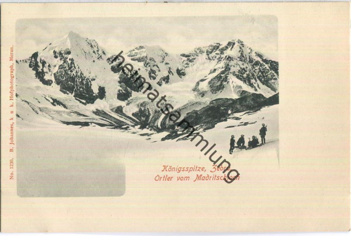 Ortler - Königsspitze - Zebru - Verlag B. Johannes Meran