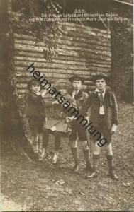 Die Prinzen Luitpold und Albrecht von Bayern mit Prinz Leopold und Prinzessin Marie Jose von Belgien - Verlag J. Windhag