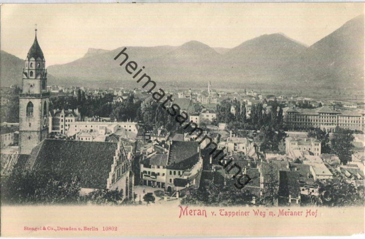 Meran - Trappeiner Weg - Verlag Stengel & Co. Dresden